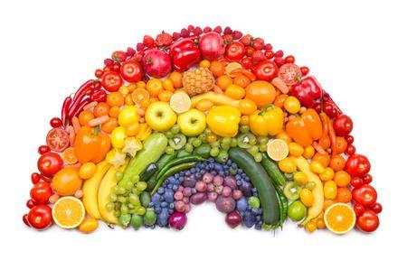 Groente en fruit regenboog